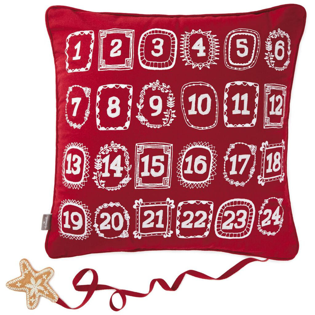 Live Merry Christmas Countdown Throw Pillow, 18\