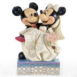 Congratulations, Mickey & Minnie Wedding Figurine, , large