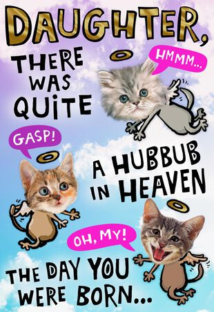 Heavenly Kittens Pop Up Birthday Card For Daughter