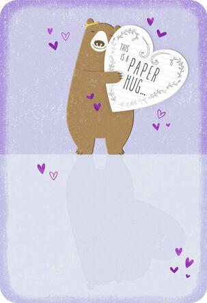 Bear Hug Thinking of You Card