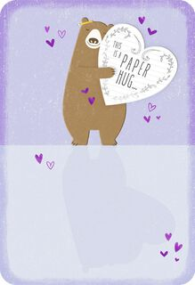 Bear Hug Thinking of You Card,