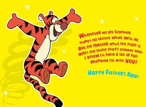 Winnie the Pooh and Tigger Father's Day Card for Godfather,
