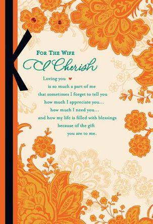 Cherished Wife Religious Valentine's Day Card