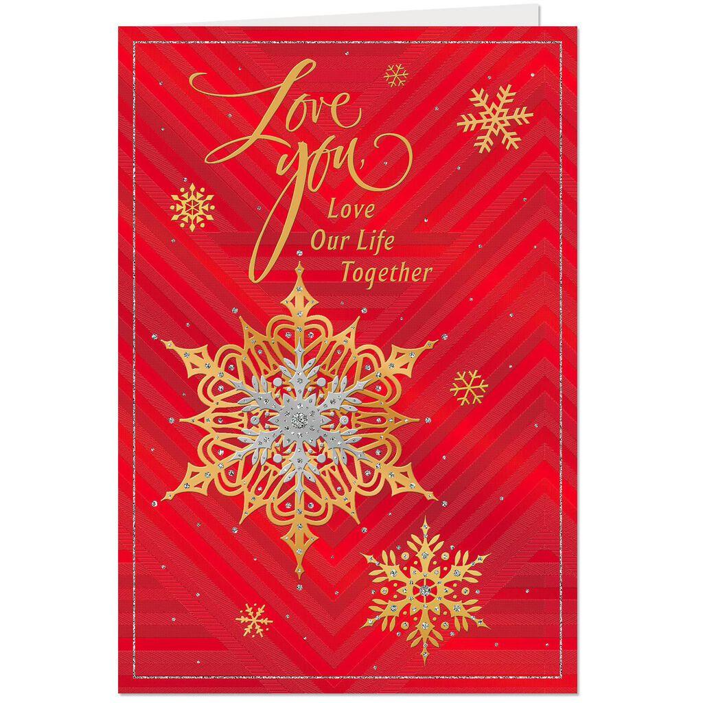 With All My Heart Romantic Christmas Card - Greeting Cards - Hallmark
