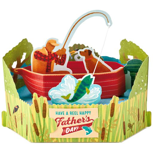 Fishing Boat Pop Up Father's Day Card, ...