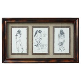 all the love multi sketch framed art large