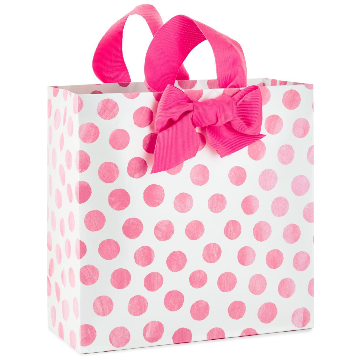 Pink dots large square gift bag 1025 gift bags hallmark negle Choice Image