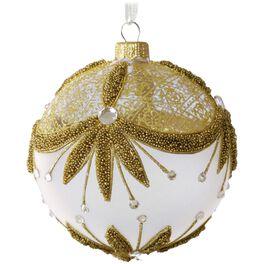 Decorative Gold Glass Ball Ornament, , large