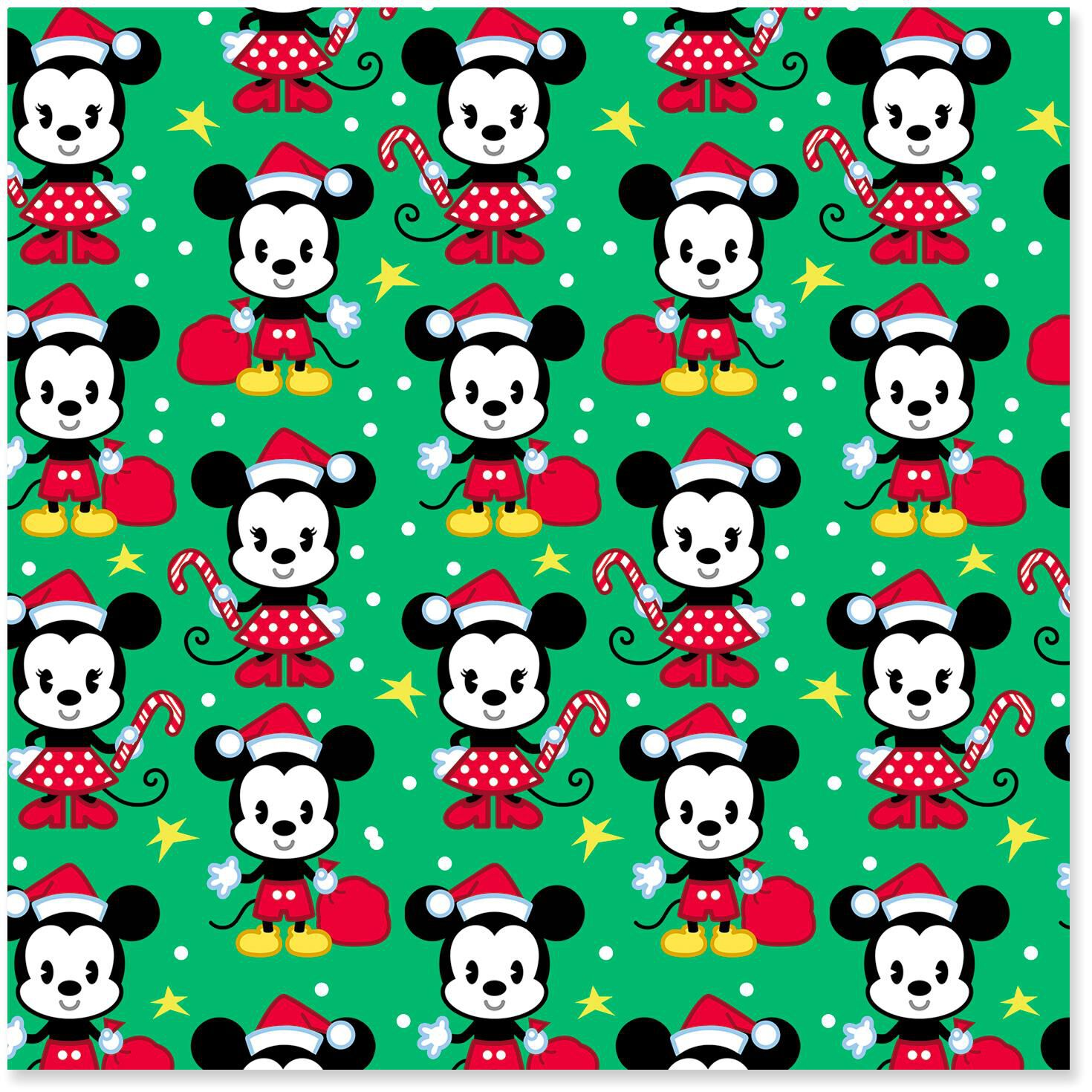 disney mickey and minnie on green christmas wrapping paper roll 35 sq ft wrapping paper hallmark