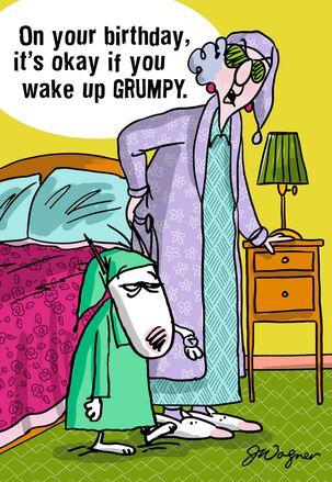 Maxine Waking Up Birthday Card