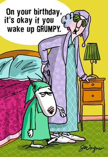 Maxine Waking Up Birthday Card,