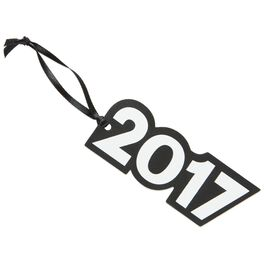 2017 Graduation Die-Cut Black and White Foam Gift Tag, , large