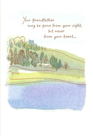 Watercolor Landscape Loss of Grandfather Sympathy Card