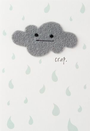 Gray Cloud Encouragement Card