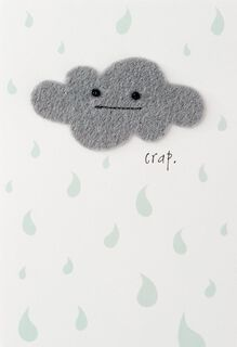Gray Cloud Encouragement Card,