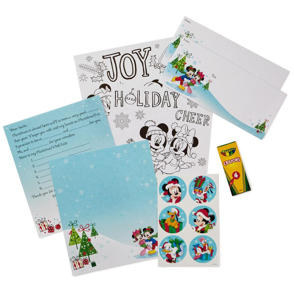 Mickey and friends letter to santa writing kit designed stationery mickey and friends letter to santa writing kit spiritdancerdesigns Gallery