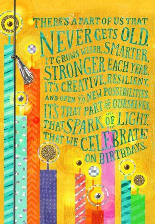 Spark of Light Birthday Card