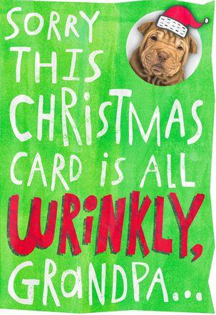 Wrinkly Card for Grandpa Christmas Card