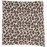 Leopard Print Knit Scarf