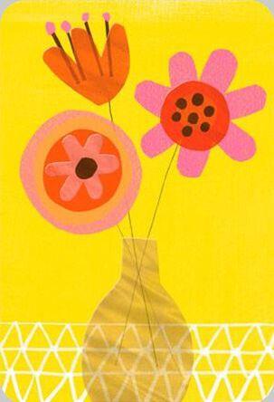 Bold Flowers Birthday Card