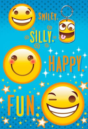 Emoji Keychain Birthday Card