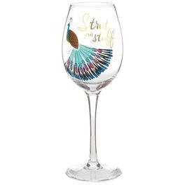 Strut Your Stuff Wine Glass, 15.8 oz., , large