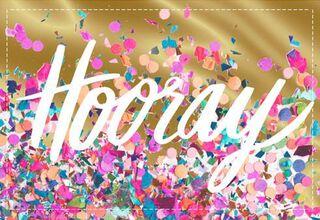 Hooray Congratulations Card,