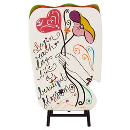 Ceramic Abstract Display Plaque with Stand, , large