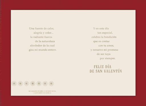 My Beloved Husband Religious Spanish-Language Valentine's Day Card,