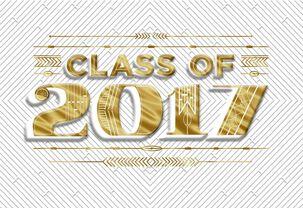 Gold Foil Class of 2017 Graduation Money Holder Card