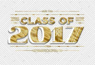 Gold Foil Class of 2017 Graduation Money Holder Card,
