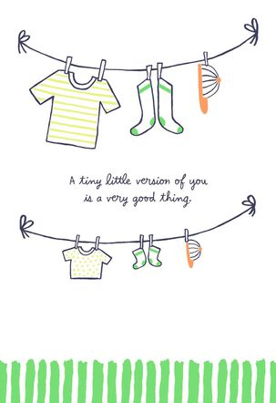 Little Version of You New Baby Boy Card