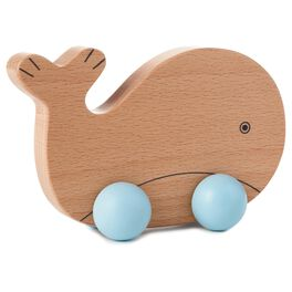 Whale Wood Push Toy, , large