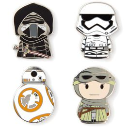 itty bittys® Star Wars: The Force Awakens™ Collectible Enamel Pins, Set of 4, , large