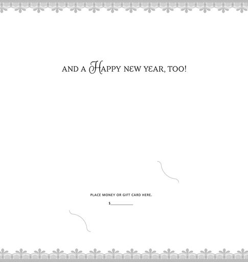 Merry Christmas and Happy New Year Money Holder Cards, Pack of 6,