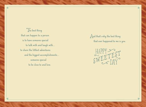 Sharing Life's Adventures With You Romantic Sweetest Day Card,