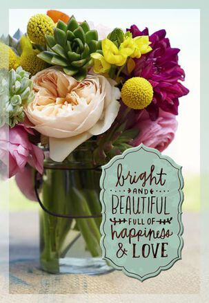 Bright and Beautiful Flowers Birthday Card