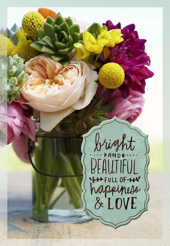 Bright and beautiful flowers birthday card greeting cards hallmark bright and beautiful flowers birthday card bookmarktalkfo Image collections