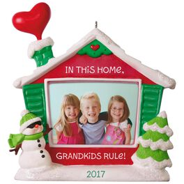 Grandkids Rule! Picture Frame Ornament, , large