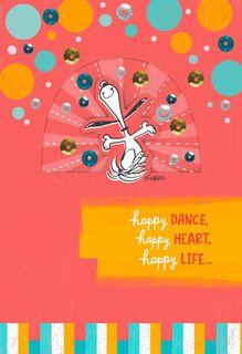 Snoopy Happy Dance Birthday Card,