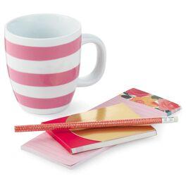 Rose Ceramic Mug and Notepad Gift Set, , large