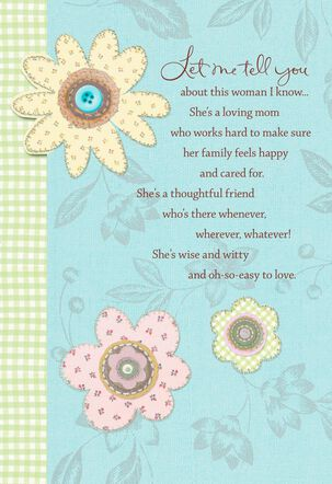Patchwork Flowers Mother's Day Card