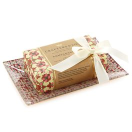 Pomegranate Luxury Bar Soap with Coordinating Soap Dish Set, , large