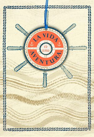Nautical Spanish-Language Birthday Card With Keepsake for Son