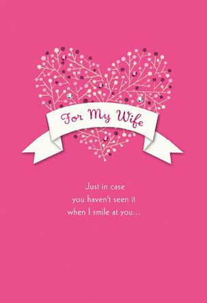 Love For My Wife Valentine's Day Card