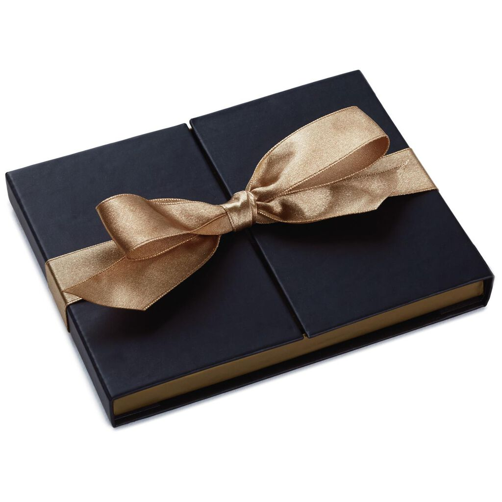 Black And Gold Gift Card Holder Box With Bow Gift Card Holders