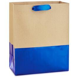 "Dipped Blue Medium Gift Bag, 9.5"", , large"