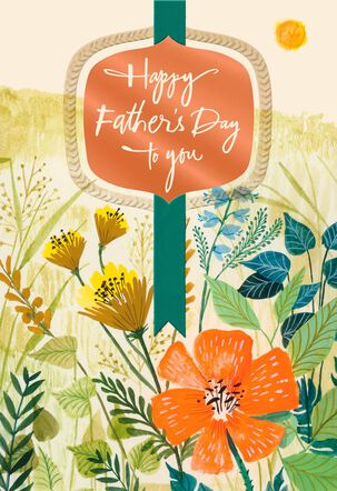 Sun and Wildflowers Religious Father's Day Card