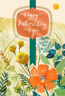 Sun and Wildflowers Religious Father's Day Card,