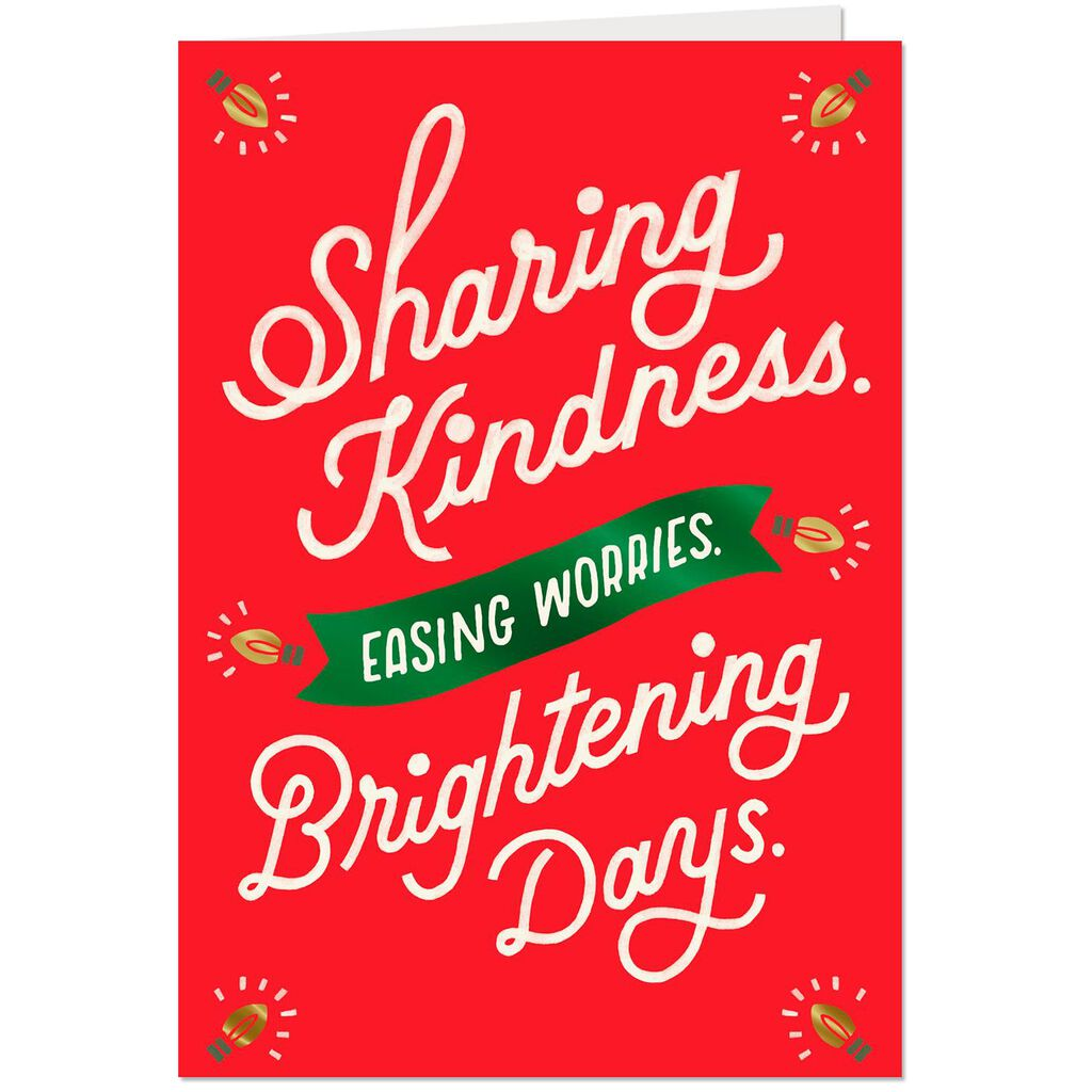Thank You For Your Kindness Christmas Card - Greeting Cards - Hallmark